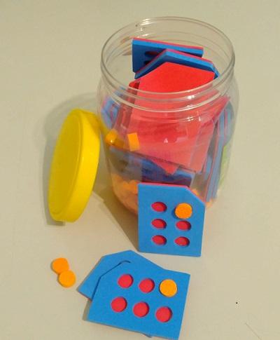 Alfabeto Braille Pote Selas em EVA