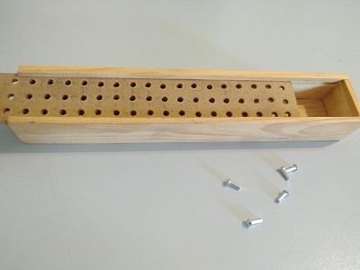 Régua Braille Caixa Madeira com Pinos